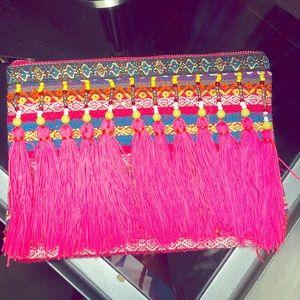 Handbags - Fringe-y Clutch